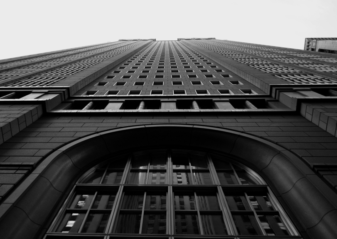 Looking Up |Federal Reserve Bank of Chicago | La Salle Street |Christmas Day, 2014 |