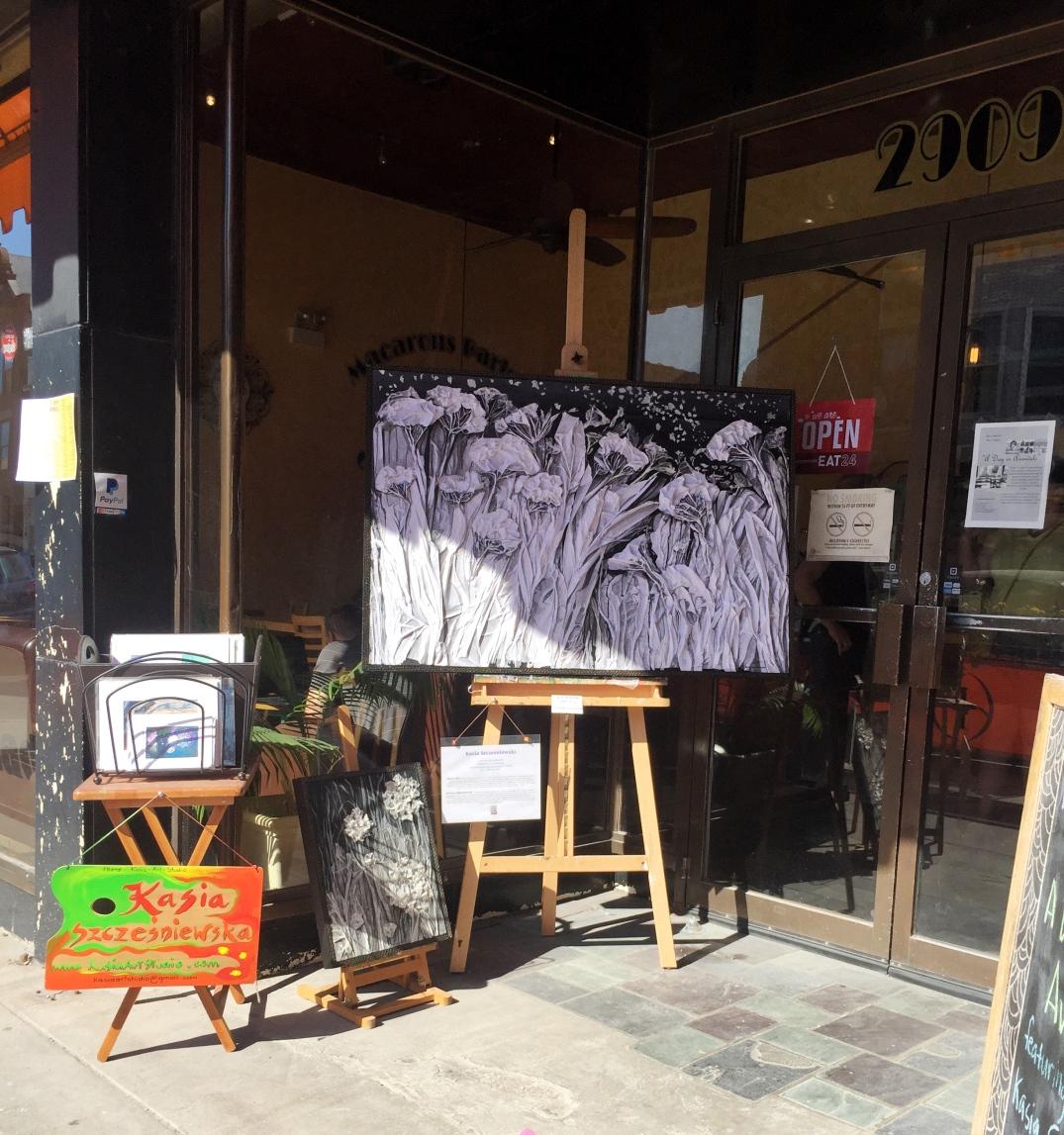 Art by Kasia at La Farine Bakery