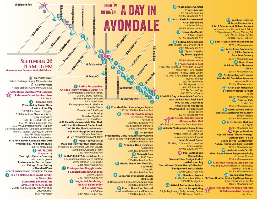 A Day in Avondale- Map